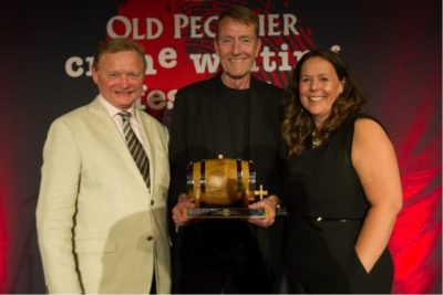 Simon Theakston with Lee Child and Sharon Canavar