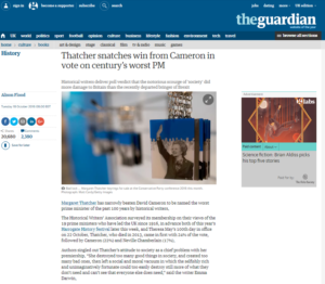 Guardian Thatcher article