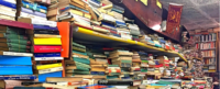 Stack of books banner image
